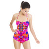 Tropical Floral and Plants No5 Repeat Tropical Floral Pattern by Dawid Roc (Swimsuit)