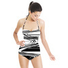 Graphic Swirl Stripe (Swimsuit)