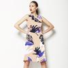 572 Tropical Indigo Print (Dress)
