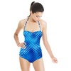 Irregular Check Pattern (Swimsuit)