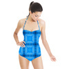 Indigo Check Pattern (Swimsuit)