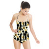 Caraway Ink Abstract Brush Dots (Swimsuit)