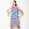 Multicoloured Square Print (Dress)