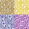 Mix Geo Patterns, Prints for Women's Wear, Home Textile in Repeat and Color Separations. Geo 3DDS06. (Original)