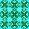 Blue Squares Waterpaint Green Rounds (Original)