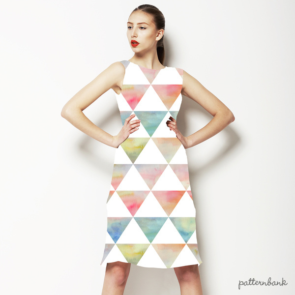 Ethnic Watercolor Triangles Pattern