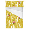 Mustard Yellow Strokes With Pixelated Rose (Bed)