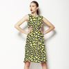 Seamless Yellow Textural Leopard Pattern (Dress)