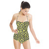 Seamless Yellow Textural Leopard Pattern (Swimsuit)