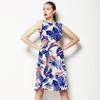 Floral Swirl Blue Orange Green (Dress)