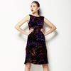 Linear Neon Flowers (Dress)