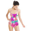 Acid Watercolour Florals (Swimsuit)