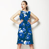 Teal and Blue Floral (Dress)