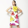 Watercolor Floral With Ink Drawing (Dress)
