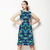 Blue Watercolour Floral (Dress)