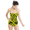 Striped Geometric (Swimsuit)