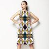 Organic Yellow Bat Wings Floral Wallpaper Style Design (Dress)