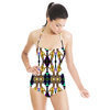 Organic Yellow Bat Wings Floral Wallpaper Style Design (Swimsuit)