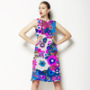 Pink and Blue Floral (Dress)