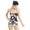 Monochrome - Fast Hand Drawn Circles (Swimsuit)