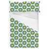 Green Graphic Flowers (Bed)