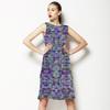 Blue Mirrored Flowers (Dress)