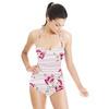 Lines+floral (Swimsuit)