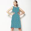 Blue and Green Folksy Stencil (Dress)
