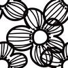 Stylized Macro Blossoms Seamless Pattern. (Original)