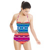 Colorful Ethnic Striped Pattern (Swimsuit)