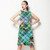 Seamless Irregular Camuflage Checks Abstrac Textile (Dress)
