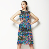 Seamless Irregular Camuflage Paisley Abstrac Textile (Dress)