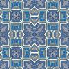 Indigo Check Baroque Seamless Pattern (Original)