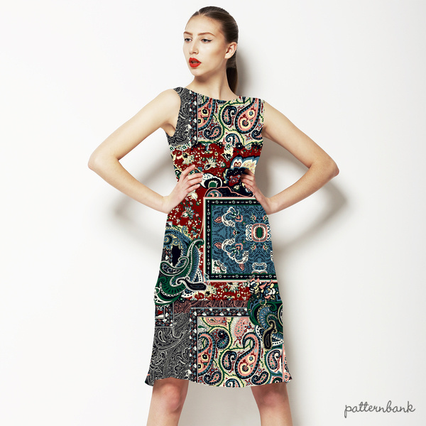 Patchwork Paisley Seamless