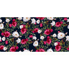 Vintage Roses on Darkblue Background (Original)