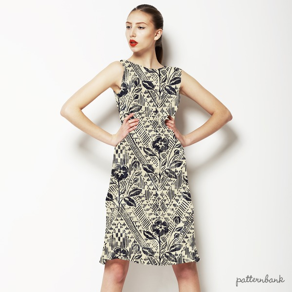 Textured Tribal Floral