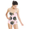 Pale Pink & Grey Rose Geo Pop Print Repeat (Swimsuit)
