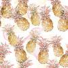 Pineapple Print. Hand Illustrated (Original)