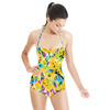 Bohemian Expressive Bloom Organic Floral (Swimsuit)