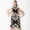 Black White Tan (Dress)