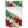 Blocking Color and Stripes No2 Modern Christmas Stripes Pattern Background (Bed)