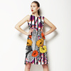 Flower With Feather for Tribe Motif/ethnic Pattern (Dress)