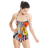 Flower With Feather for Tribe Motif/ethnic Pattern (Swimsuit)