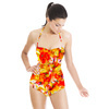 Modern Expressive Tribe Red Fire Fragments (Swimsuit)