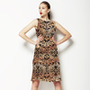 Burnt Ombre Damask (Dress)