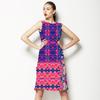 Pink & Blue Mirror Repeat (Dress)