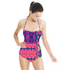 Pink & Blue Mirror Repeat (Swimsuit)