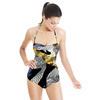 Industrial Textured Collage (Swimsuit)