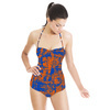Abstract Texture Colorfull Irregular Textile (Swimsuit)