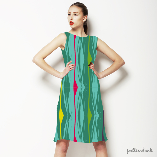 Multi-Colored Funky Graphic Stripes